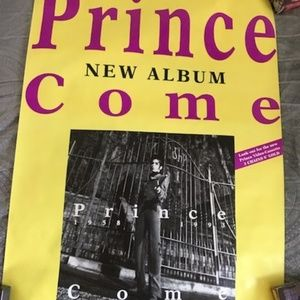 wb Wall Art - Prince COME Rare Mint German Promo Poster
